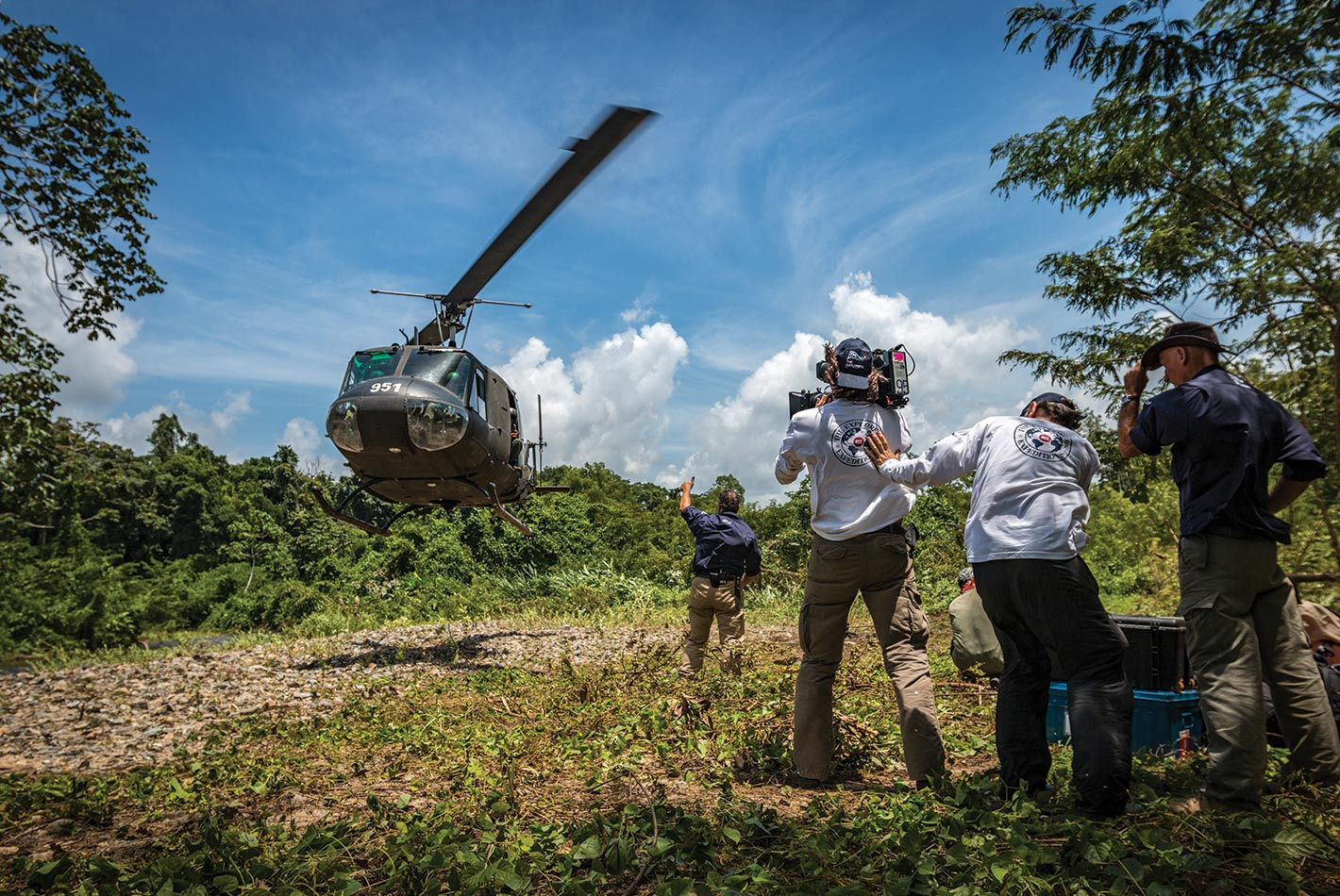 Atterrissage dans la Mosquitia honduras valentin pacaut